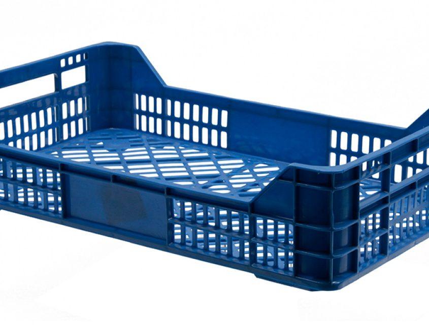 Embalogik-bac-plastique-alimentaire-casier-caisse-agricole-fruit-legume-industrie-bon-prix-location-recyclage-empilable-gerbable-noir-vert-bleu-legere-lourde-ajoure